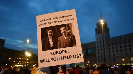 Befürworter der katalanischen Unabhängigkeit erhofften sich Unterstützung seitens der Europäischen Union