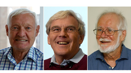 Die Gewinner des Nobelpreises 2017 in Chemie: Joachim Frank, Richard Henderson und Jacques Dubochet.