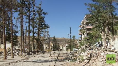 In der Altstadt von Zabadani endete die Ausflugsbahn. Der ehemalige Kurort in der Nähe von Damskus ist zerstört.
