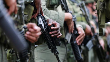 Mitglieder der kolumbianischen Anti-Drogen-Einheit in San Jose del Guaviare.