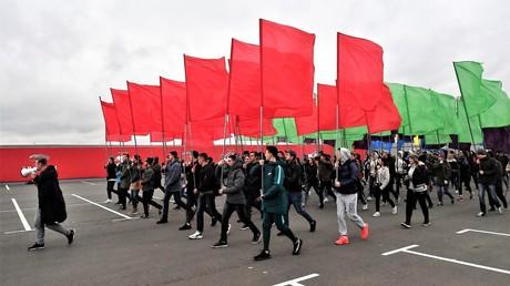 Generalprobe der Eröffnung am 12. Oktober in Moskau.