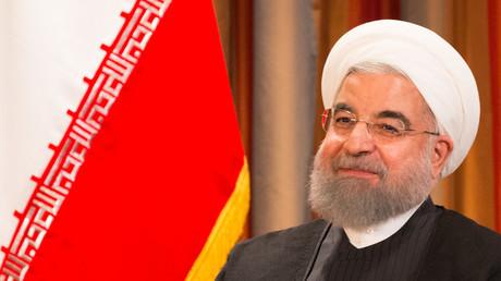 Der iranische Präsident Hassan Rouhani (hier während der 72. Sitzung der Generalversammlung der Vereinten Nationen in New York am 19. September 2017)