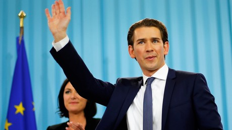 Der Kandidat der Österreichischen Volkspartei, Sebastian Kurz, am Wahlabend des 15. Oktober 2017.