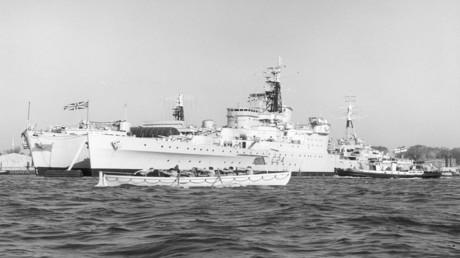 Die HMS Sheffield wurde im Falkland-Krieg versenkt.