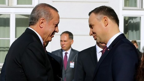 Der Präsident der Türkei, Recep Tayyip Erdogan, und der Präsident Polens, Andrzej Duda, in Warschau (17. Oktober 2017, Quelle: Website des türkischen Präsidenten)