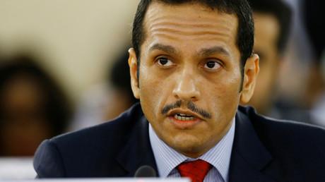 Der katarische Außenminister Scheich Mohammed bin Abdulrahman al-Thani während einer Sitzung der Vereinten Nationen in Genf, Schweiz, 11. September 2017