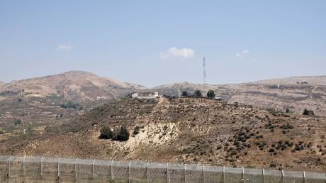 Blick auf die syrische Seite Golan-Höhen