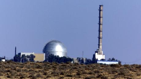 Blick auf die israelische Anlage zum Bau von Atomwaffen in der Negev-Wüste, Dimona, Israel.