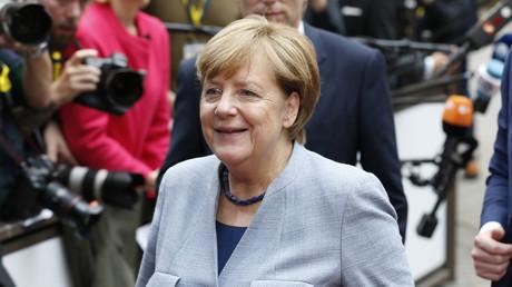 Bundeskanzlerin Angela Merkel auf dem Treffen der EU-Staats- und Regierungschefs in Brüssel.