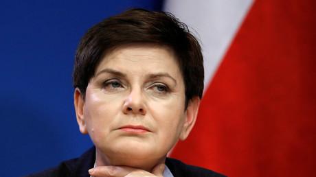 Polnische Ministerpräsidentin Beata Szydło auf einer Konferenz des European Union leaders summit (Brüssel, 10. März 2017, Quelle: Reuters)