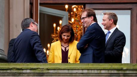 Noch keine Partystimmung bei den Koalitionsverhandlungen zwischen CDU/CSU, FDP und Grünen.
