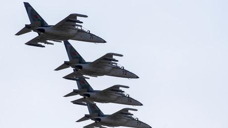 Kampfjets währen der Militärübung Zapad 2017.