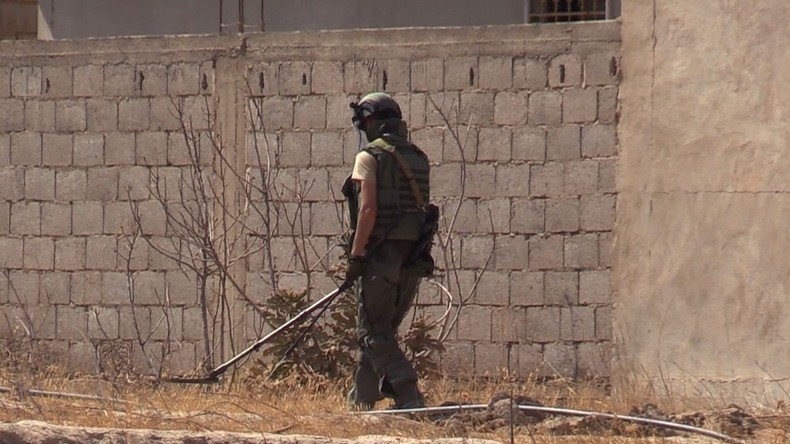 Syrische Militärpioniere entdecken in Aleppo italienische Minen