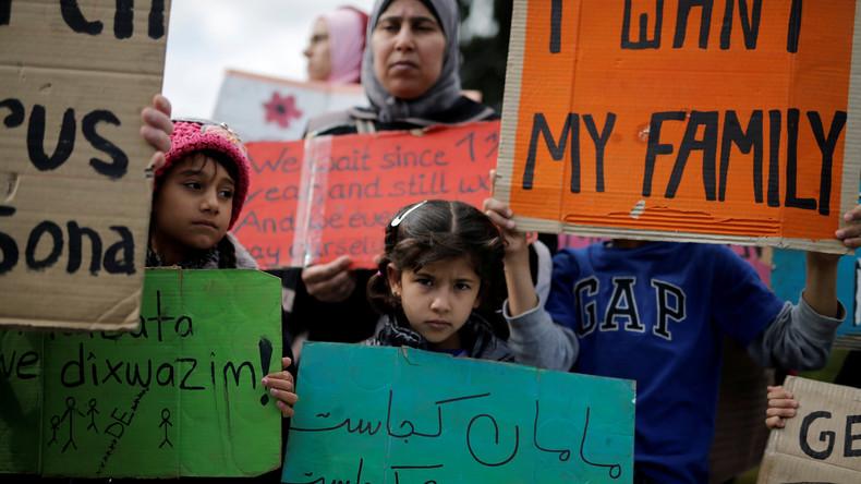 Griechenland: Syrische Frauen und Kinder fordern Familienzusammenführung durch Hungerstreik ein