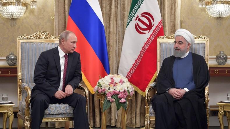 LIVE: Gemeinsame Pressekonferenz von Putin, Rouhani und Alijew nach trilateralem Treffen in Teheran