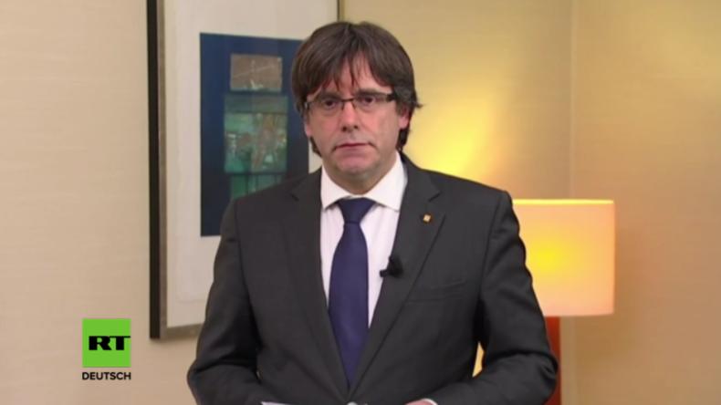 """""""Repression statt Demokratie"""": Puigdemont hält aus dem Exil eine besorgniserregende Ansprache"""