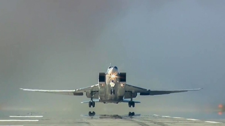 Russische Flugzeuge bombardieren Terrorstellungen in Syrien