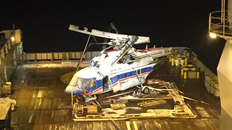 Norwegische Spezialkräfte bergen abgestürzten russischen Helikopter