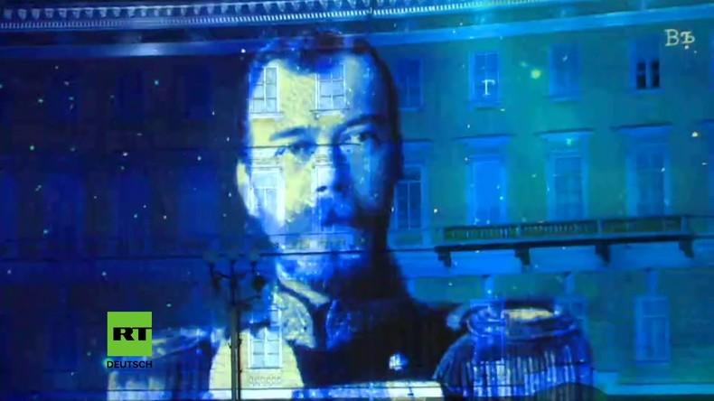 St. Petersburg: Lichterfestival zum 100. Jahrestag der russischen Revolution