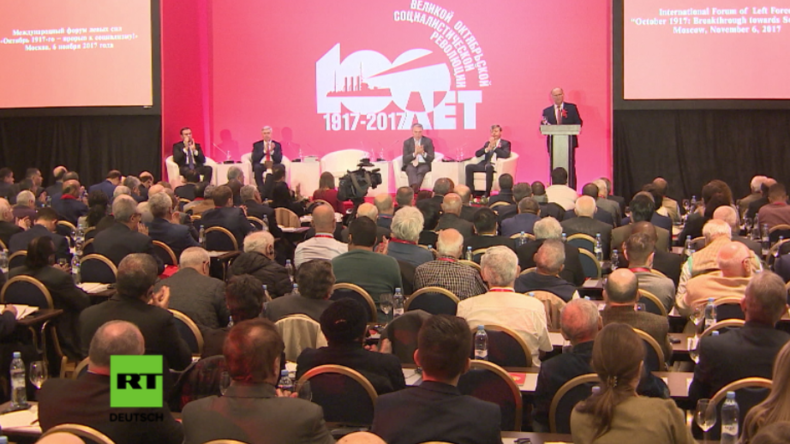 Moskau: Kommunisten und Sozialisten versammeln sich zum 100. Jahrestag der Oktober-Revolution
