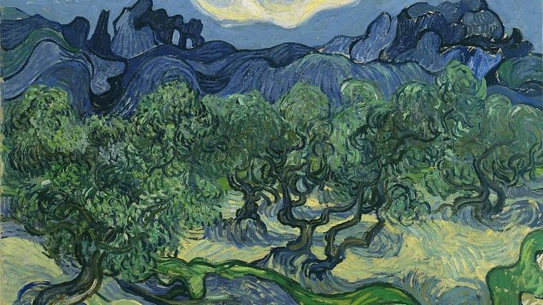 Farbenfroher Tod: Echte Heuschrecke auf Gemälde von Van Gogh entdeckt