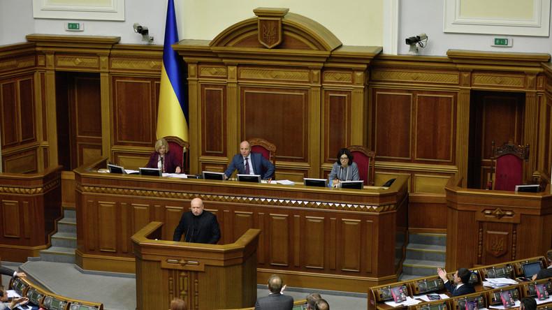 Ukrainische Hardliner fordern Abbruch diplomatischer Beziehungen zu Russland - Abstimmung ungewiss