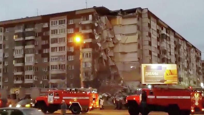 Neunstöckiges Haus in russischer Stadt Ischewsk teils eingestürzt: Zwei Tote und zwei Verletzte