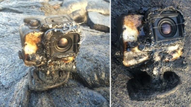 In Flammen gehüllt: GoPro-Kamera überlebt in Lavastrom und filmt ihn