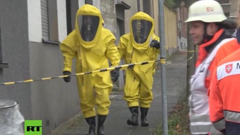"""Katastrophenstimmung vor Köln: Radioaktive Kassette mit Aufschrift """"Uran"""" löst Sondereinsatz aus"""