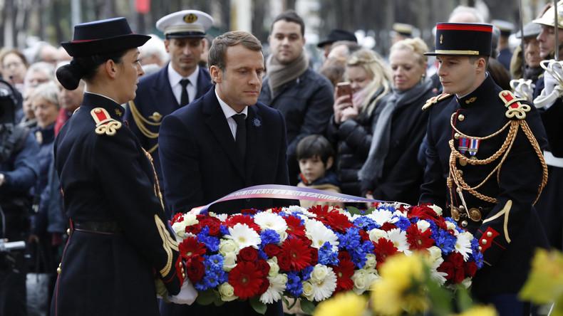 Frankreich gedenkt des Waffenstillstands von 1918