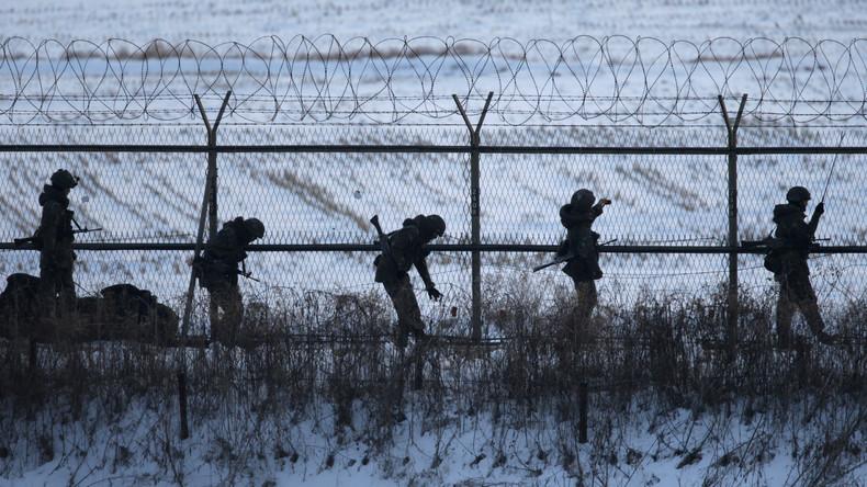 Nordkoreanische Soldaten schießen auf fliehenden Kameraden