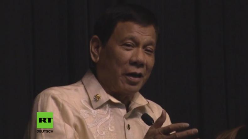 """""""Du bist das Licht in meiner Welt"""": Philippinischer Präsident Duterte singt Liebeslied für Trump"""