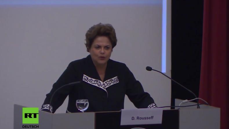 """Dilma Rousseff in Berlin: """"In Brasilien hat ein neoliberaler Putsch stattgefunden"""""""