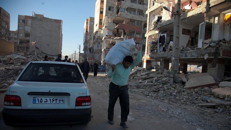 Spendenaufrufe für iranische Erdbebenopfer durch US-Sanktionen blockiert