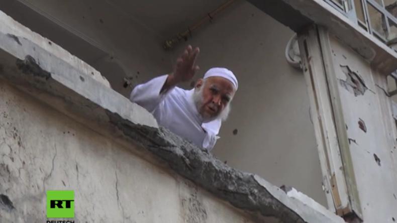 """Rakka: """"Und wenn ihr mich erschießt, ich werde nicht gehen!"""" - Syrer will in zerstörtem Haus bleiben"""