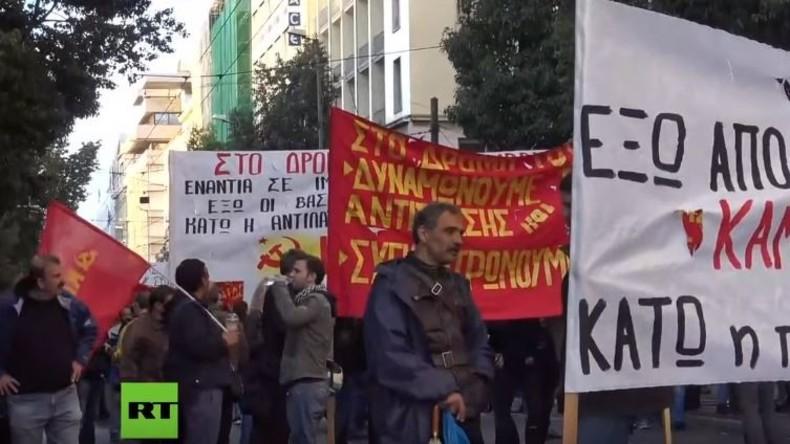 LIVE: Gedenkveranstaltung in Athen zum 50.  Jahrestag des Aufstandes am Polytechnio