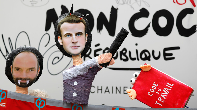 #LIVE - Anti-Macron-Demonstranten marschieren auf den Elysee-Palast zu