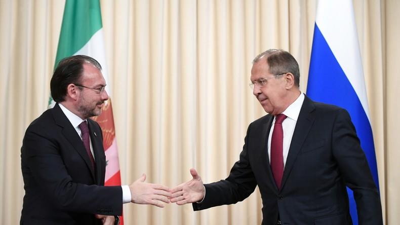 Geeint im Fadenkreuz der USA? Lawrow antwortet auf Fragen zu den russisch-mexikanischen Beziehungen