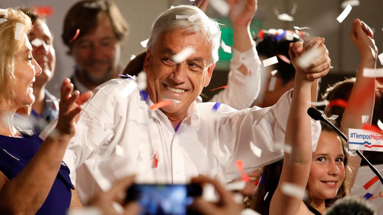 Konservativer Unternehmer Piñera siegt bei Präsidentenwahl in Chile - Stichwahl nötig