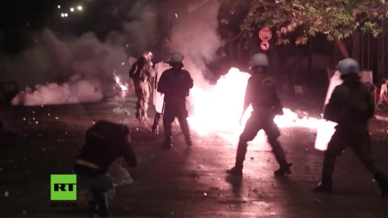 Athen: Autonome attackieren Polizisten mit Molotow-Cocktails und Steinen