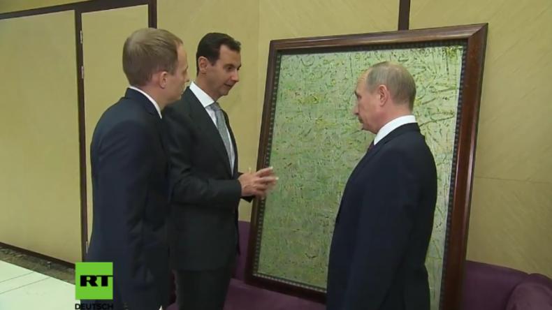 Treffen unter Partnern: Assad bringt Putin ein Geschenk aus Syrien mit