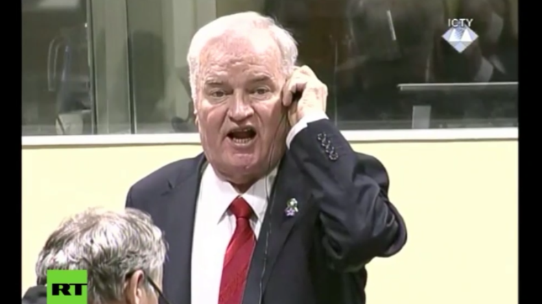 """""""Sie lügen!"""" - Mladic fliegt nach lautstarkem Protest bei Urteilsverlesung aus Gerichtssaal"""