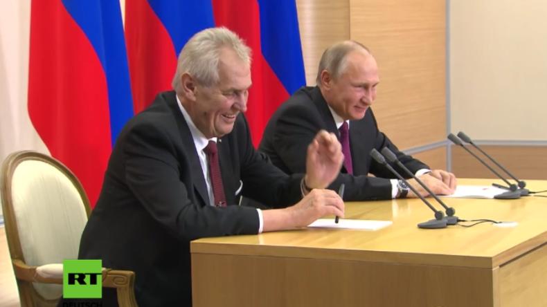 """Putin zu Lebensmittel-Sanktionen: """"Solange wir noch europäisches Bier bekommen, kriegen wir es hin"""""""