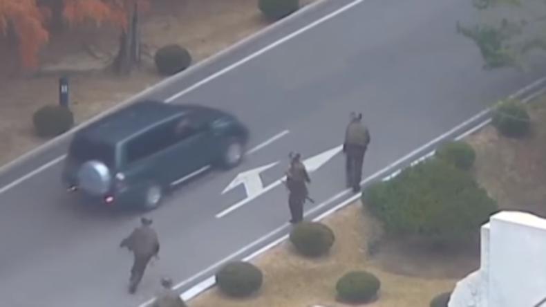 Video zeigt Flucht eines nordkoreanischen Überläufers mit Verfolgungsjagd und Schüssen