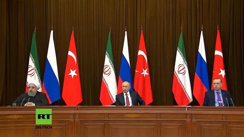 LIVE: Syrien-Friedensgespräche: Putin, Erdogan und Rouhani geben Pressekonferenz