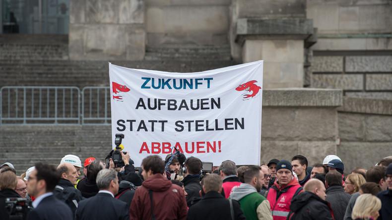 LIVE: Proteste in Berlin gegen Stellenabbau bei Siemens
