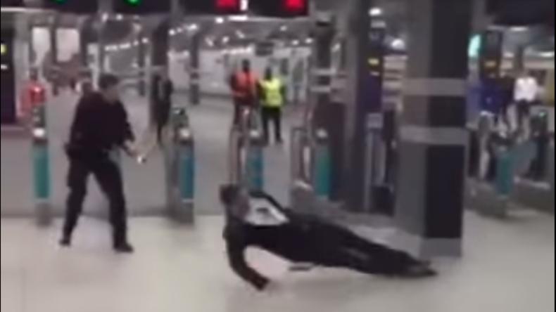 """""""I'm a fucking legend!"""": Londons Polizei bringt aggressiven Poser mit Elektroschockpistole zu Boden"""