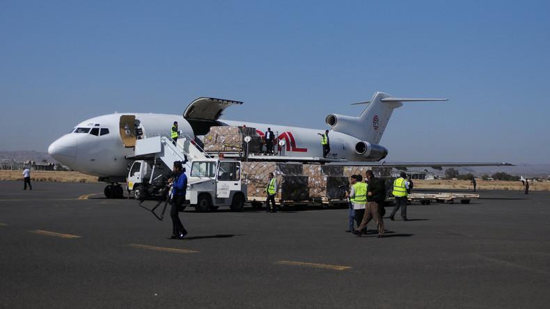 Flugzeuge mit Hilfsgütern und Helfern im Jemen gelandet