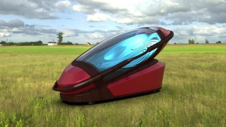 Schmerzfreier Suizid: Selbstmordkapsel mit abtrennbarem Sarg aus dem 3D-Drucker