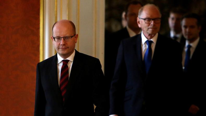 Tschechischer Premierminister Sobotka legt offiziell sein Amt nieder